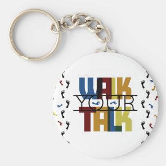 Walk Your Talk #1 Basic Round Button Keychain
