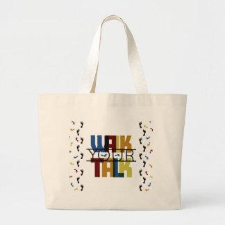Walk Your Talk #1 Large Tote Bag