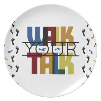 Walk Your Talk #1 Plate