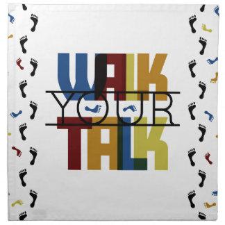 Walk Your Talk #1 Printed Napkin