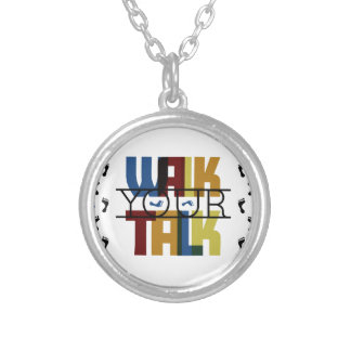 Walk Your Talk #1 Silver Plated Necklace