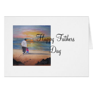 walked with me, Happy Fathers Day Card