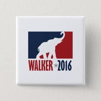 Walker 2016 Pro GOP Candidate Design 2 Inch Square Button