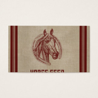 Walker Farms Horse Feed Sack Business Card