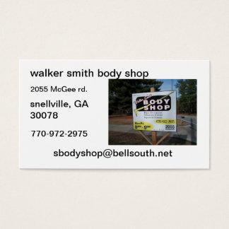 walker smith body shop business card