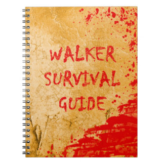 Walker Survival Guide Funny Zombie Notebook