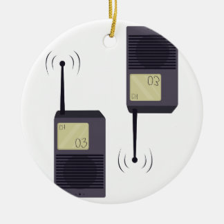Walkie-Talkie Ceramic Ornament
