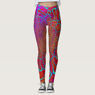 Walkin' On Sun Shine Psychedelic 3D Leggings