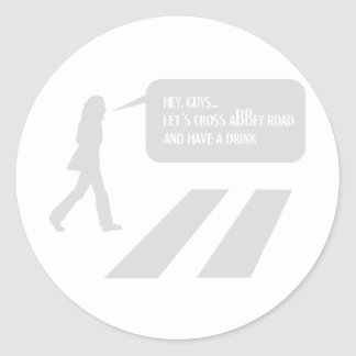 Walking Abbey Road Custom ED. Classic Round Sticker