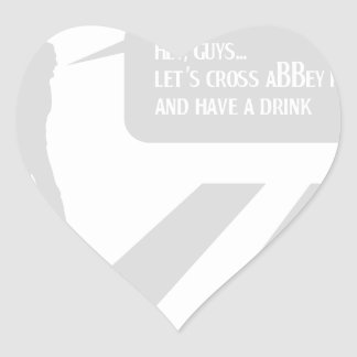 Walking Abbey Road Custom ED. Heart Sticker