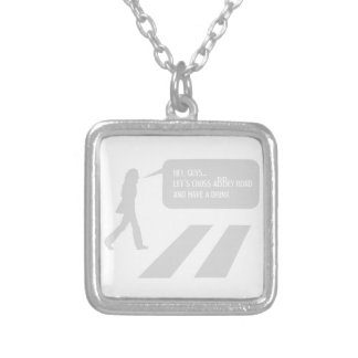 Walking Abbey Road Custom ED. Silver Plated Necklace