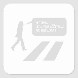 Walking Abbey Road Custom ED. Square Sticker