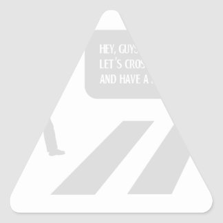 Walking Abbey Road Custom ED. Triangle Sticker
