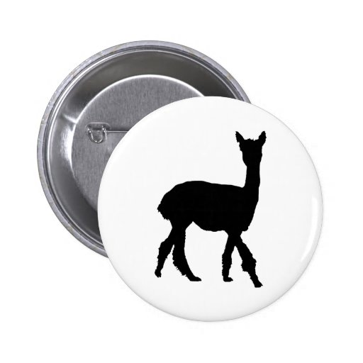 Walking Alpaca Pinback Button