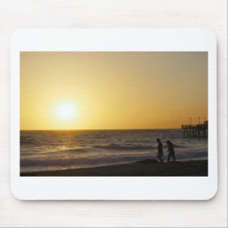 Walking at Sunset Mouse Pad
