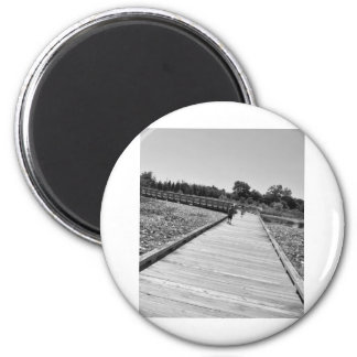 Walking at the Park 2 Inch Round Magnet