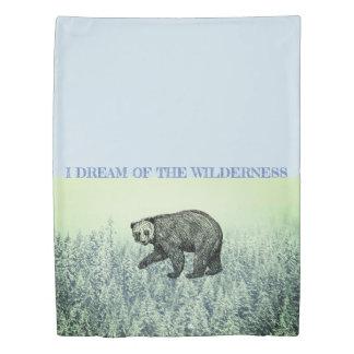 Walking Bear Cabin Wilderness Twin Duvet Cover