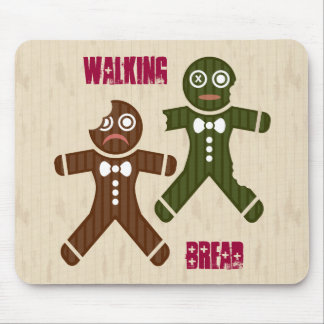 Walking Bread Mouse Pads