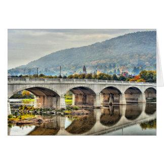 Walking Bridge Corning NY Card