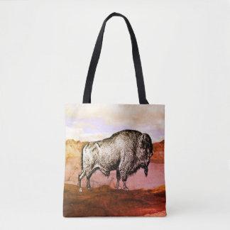 Walking Buffalo Tote Bag