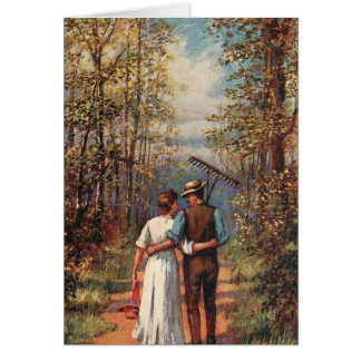 Walking Couple from Work Card