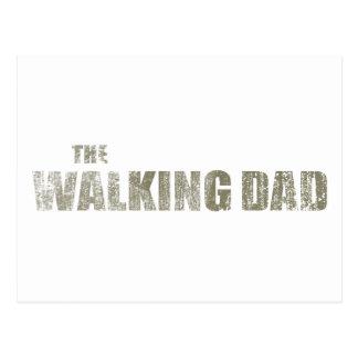 Walking Dad Postcard