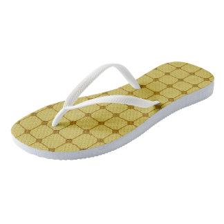 Walking Floor Gold Flip Flops