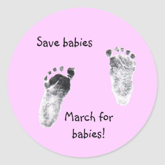 Walking for a cause classic round sticker