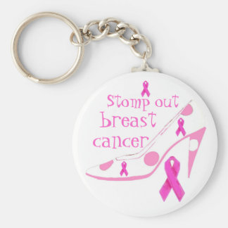 Walking for Breast Cancer Basic Round Button Keychain
