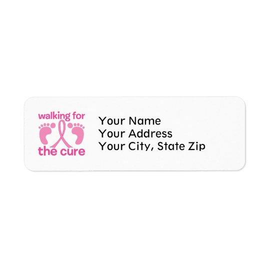 Walking For The Cure Return Address Label