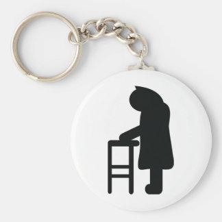 walking frame granny keychain