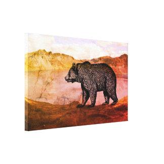 Walking Grizzly bear Canvas Art