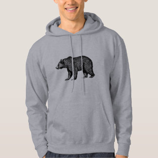 Walking Grizzly Bear Hoodie