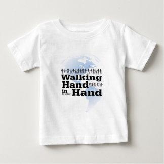 walking Hand in Hand Baby T-Shirt