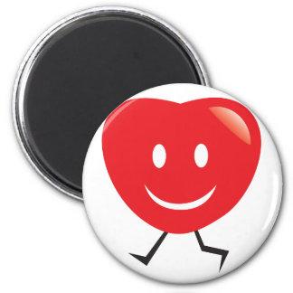 walking heart 2 inch round magnet
