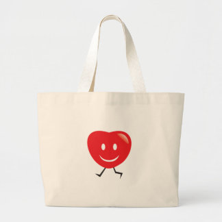 walking heart large tote bag