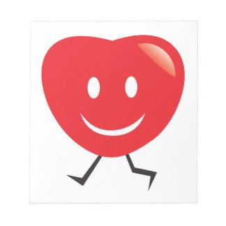 walking heart notepad