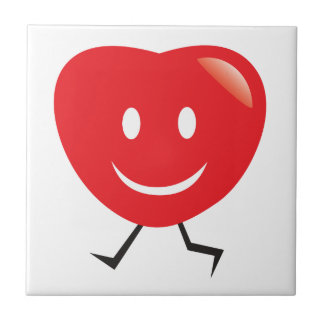 walking heart tile