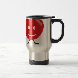 walking heart travel mug
