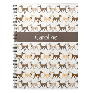 Walking Hounds Spiral Notebook