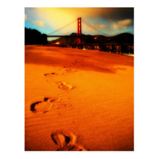 Walking in Crissy Field Postcard