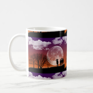Walking in front of the moon Digital Art Coffee Mug