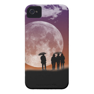 Walking in front of the moon Digital Art iPhone 4 Case-Mate Case
