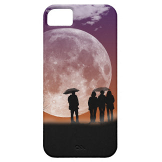 Walking in front of the moon Digital Art iPhone 5 Case