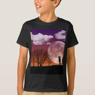 Walking in front of the moon Digital Art T-Shirt
