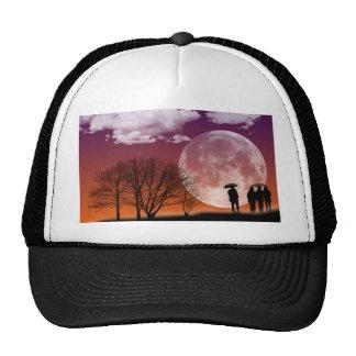 Walking in front of the moon Digital Art Trucker Hat