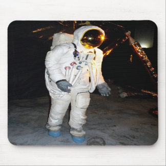 Walking in space mousepad