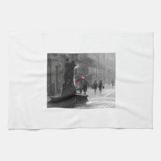 Walking In The Rain Hand Towel