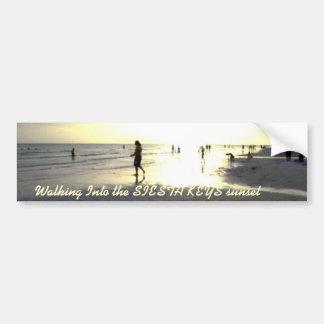 Walking Into The Sunset Car Bumper Sticker