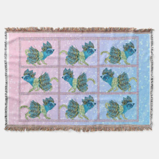Walking Kitties Trow Blanket Throw Blanket
